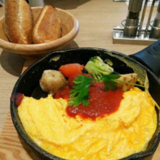 プレーンオムレツ&焼き野菜 フランスパン付(Cafe ココノハ 河原町OPA店 )