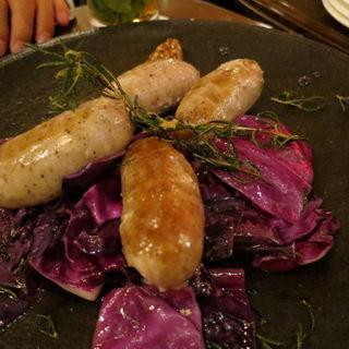 ソーセージと紫キャベツのオーブン焼き(cafe1894)