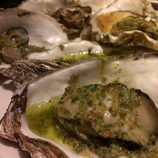 牡蠣の香草オイル焼き