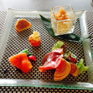 前菜の盛り合わせ(FUNATSURU KYOTO KAMOGAWA RESORT (フナツルキョウトカモガワリゾート))