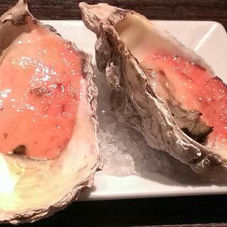 明太子ソースの焼き牡蠣(GUMBO&OYSTER BAR 二子玉川ライズ店 (ガンボ&オイスターバー))
