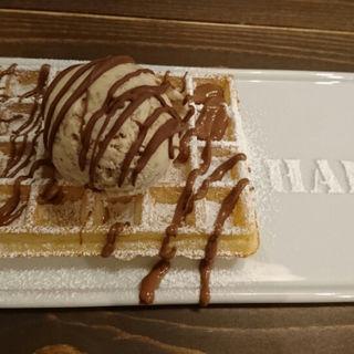 クッキーアイス・ミルクチョコトッピング(hapje)