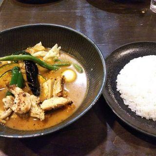 こりこり肉付きヤゲン軟骨to野菜カレー(lavi)