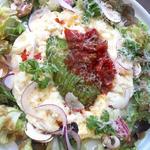 ホワイトエッグオムレツのメキシカンサルサ&アボカド