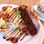 チョコレートブラウニーのポップオーバー(PUBLIC.COFFEE&BAR)