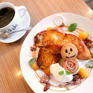 季節のフレンチトースト モンブラン(PUBLIC.COFFEE&BAR)