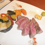 北薩摩牛の岩塩ステーキ