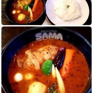 トマトスープのチキンカレー(SAMA 北見店 (サマ))