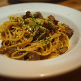 放牧どろ豚内蔵煮込み『ソフリット』のスパゲッティ(Trattoria Cicci Fantastico )