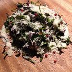 本日収穫のオーガニックケール爆弾サラダ