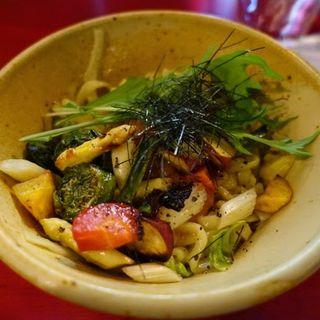 焼き野菜と麦みそのまぜ麺(D'ORO (ドーロ))