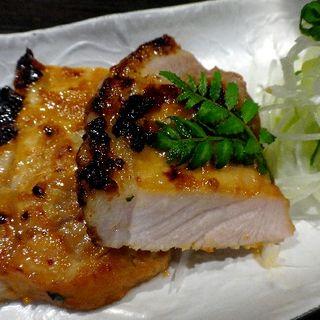 北海道産豚ロースの味噌漬け焼き