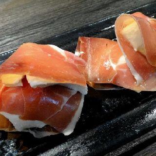 絹豆腐とクリームチーズムース生ハム巻(あおき )