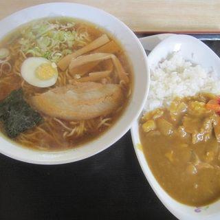 カレー・ラーメンセット(あさの食堂 )