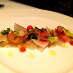 利尻昆布で〆た旬魚のカルパッチョ