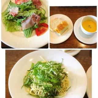 シラスと大葉のパスタセット(イタリア食堂 晴 (イタリアショクドウ ハル))