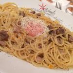 半熟卵と豚肉のボロネーゼ パルメザン風味