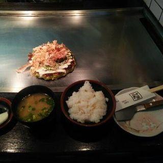 お好み焼き定食(うさぎ屋 )
