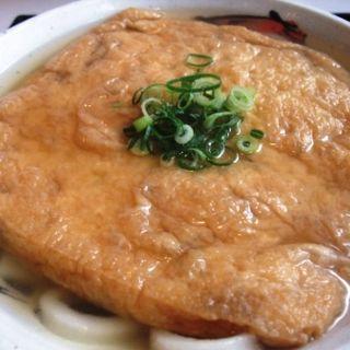 特大キツネうどん(うどん・ちゃんこ鍋 与左衛門)