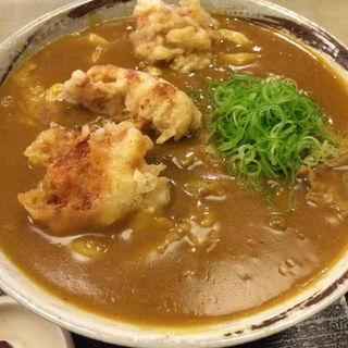 鶏天カレーうどん(うどんとお酒 花鳥風月庵)