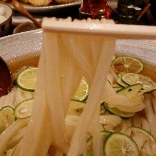 ひやひやすだちうどん(うどん小屋 柔製麺)