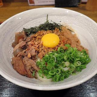 牛すじまぜ麺(小ご飯付)(うどん居酒屋 麦笑 (うどんいざかやムギワラ))