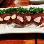 馬刺しネギまみれ(エビス 神田総本店 )