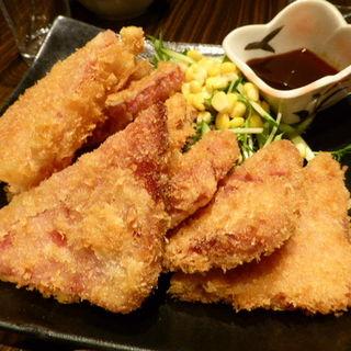 ハムカツ(麺処おおぎ)