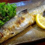 ニジマスの塩焼(静岡)