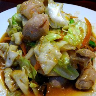 ホルモン野菜ピリ辛炒め(おだい処 近次)