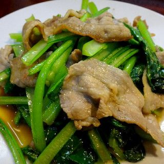 豚肉と小松菜の炒めもの(おだい処 近次)