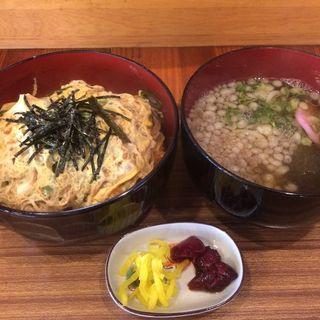 カツ丼 半玉うどん付き(お食事処 為ちゃん)