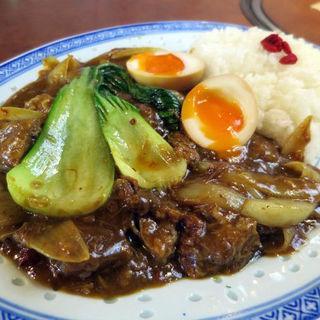 チャイナタウンの咖喱飯(カリーハン)とろとろ味玉付(カウボーイカレー (COWBOY CURRY))