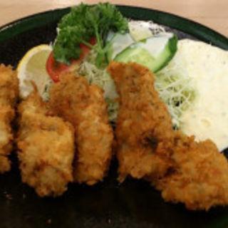かきフライ定食(かき小屋 銀座の蛍)