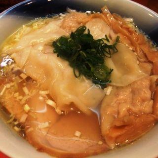 ワンタン麺・塩(カドヤ食堂 本店 (かどやしょくどう))