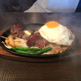 日替わりランチ(1ポンドの ステーキ ハンバーグ タケル 福島店 )