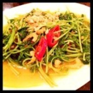 豆苗のサンバル炒め(カフェ・シンガプーラ 海南鶏飯 )