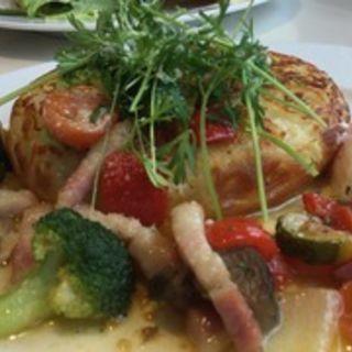 野菜とベーコン半熟たまごのポテトパンケーキ(カフェナチュレ )