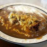 Wハンバーグチーズカレー(大盛り・辛口)(カレーショップキング )