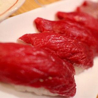 握り寿司ロース(がんばれニッポン馬肉道場 馬喰ろう 神田店 (ばくろう))