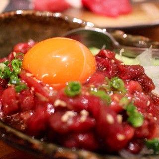 特選桜ユッケ(がんばれニッポン馬肉道場 馬喰ろう 神田店 (ばくろう))