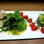 ポテトサラダ&アボガドとカニのサラダ
