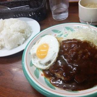 デミたまハンバーグ定食(キッチンセブン 街のハンバーグ屋さん 浅草橋店 )