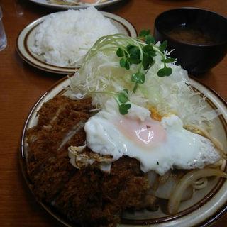 チキンカツしょうが焼きライス(キッチン南海 早稲田店 )