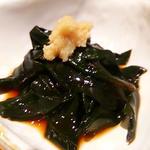 <加賀野菜> 金 時 草 の 酢 の 物