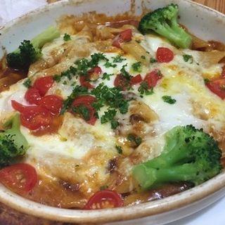 挽肉とトマトのデミグラス風味 Wチーズ焼きペンネ(クチナーレ (Cucinare))