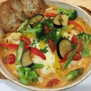 野菜いっぱいのパスタグラタン クリーミーミートクリーム(クチナーレ (Cucinare))