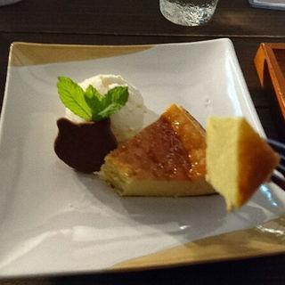 ベイクドチーズケーキと紅茶のセット(くまのこ )
