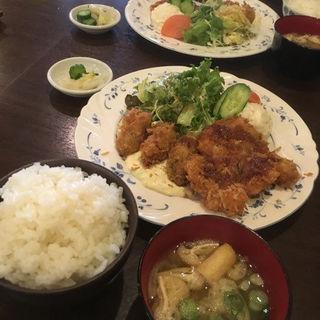 豚ヒレカツ&カキ天ぷら(ぐりる池田 )