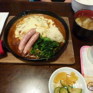 チーズハンバーグ定食(グリンデル )